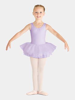 Child Diamante Back Tank Tutu Dress