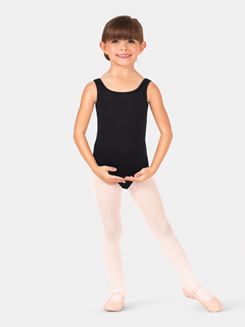Girls Surya Rouched Lace Tank Leotard
