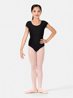 Child Strappy Back Cap Sleeve Leotard