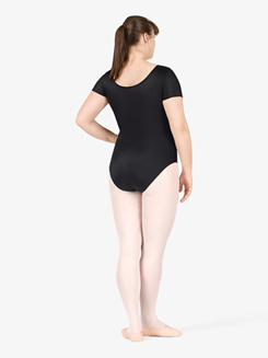 Adult Plus Size Short Sleeve Dance Leotard