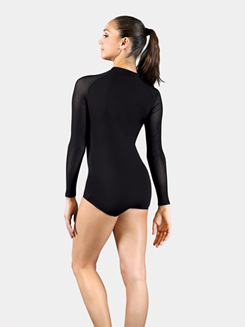 Adult Bolshoi Stars Collection Long Sleeve Mesh Zip Front Leotard