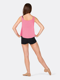 Adult Dance Nerd Crop Tank Top in Pink