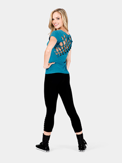 Rhinestone Crop  Dance Tight/Legging 