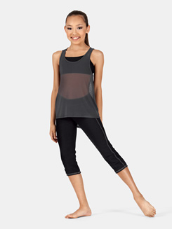 Girls High-Low Mesh Tank Top