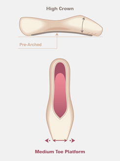 Adult Entrada Pro Pointe Shoe