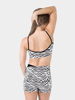 Adult High V-Waist Zebra Dance Short