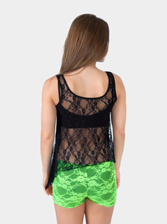 Girls Lace Back Tank Top