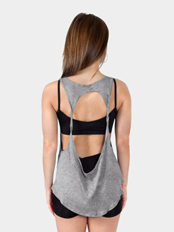 Adult Grey Star Open Back Top Tank