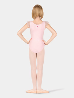 Child Flutter Sleeve Wrap Front Leotard