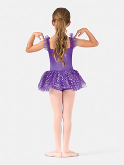 Child Camisole Flutter Sleeve Dance Dress