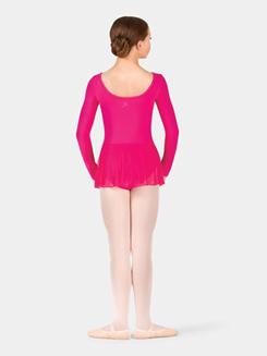 Child Long Sleeve Pinch Front Dance Dress