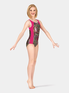 Child Tank Lattice Back Leotard