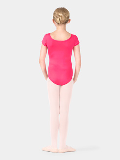 Child Pinch Front Cap Sleeve Leotard