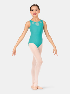 Child Glitter Dot Tank Leotard