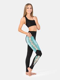 Adult Snake Print Insert Legging