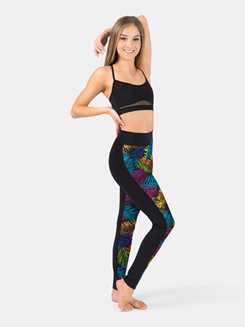Adult Palm Tree Front Panel Legging