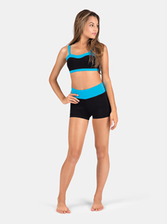 Adult Tank Sweetheart Color Block Crop Top