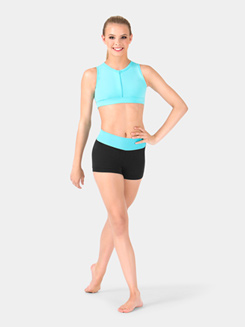 Adult Banded Color Block Dance Short