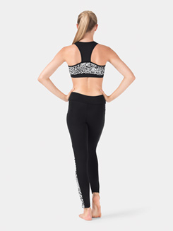 Adult Printed White Leopard Ankle Leggings