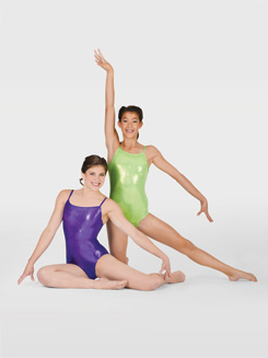 Adult Metallic Gymnastic Camisole Leotard