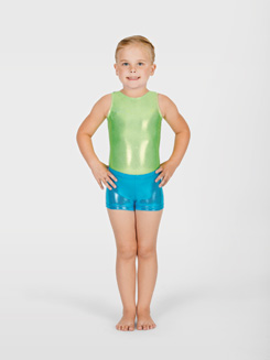Child Metallic Gymnastic Short 