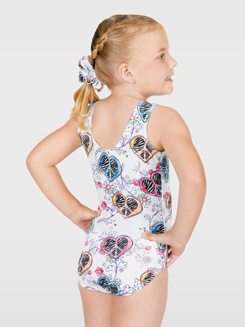 Child Hearts &amp; Flowers  Gymnastic Tank Leotard 