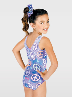 Child Sublimated Glitter Tank Leotard