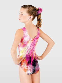 Child Sublimated High Neck Tank Leotard