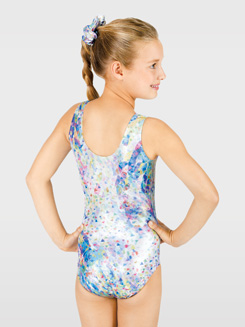 Child Sublimated Confetti Gymnastic Leotard