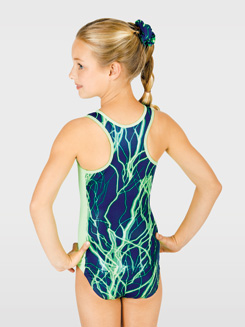 Child Electricity Gymnastic Tank Leotard 