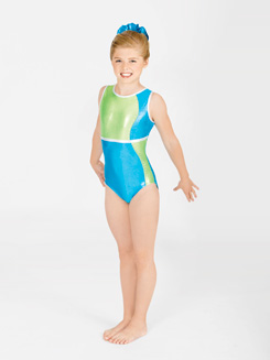 Child Color Block Gymnastic Tank Leotard