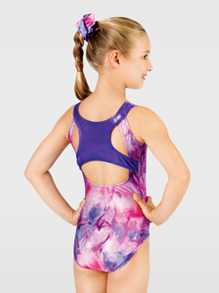 Child Contrast Racerback Gymnastic Tank Leotard
