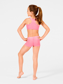 Stardust Child Velvet Gymnastic Racer Back Bra Top