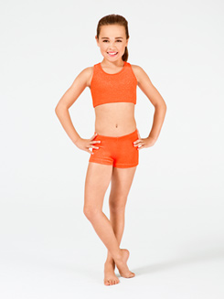 Stardust Child Velvet Gymnastic Dance Short