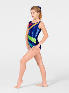 Mystique Child Striped Gymnastic Tank Leotard