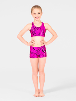 Adventurous Child Gymnastic Racer Back Bra Top 