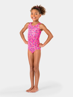 Child Tank Foil Heart Leotard