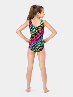 Child Printed Tank Gymnastics Leotard