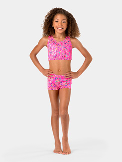 Child Tank Foil Heart Bra Top