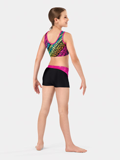Child Printed Tank Gymnastics Bra Top