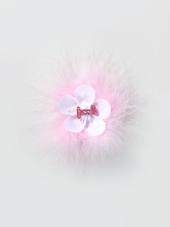 Marabou Flower Hair Clip