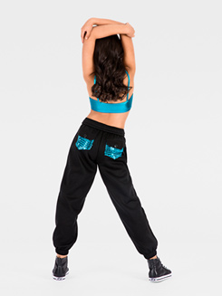 Metallic Pocket Child Sweatpant