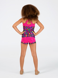 Circle Print Child Sparkle Short