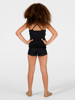 Black Booty-Ruffle Child Short
