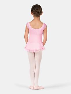 Child Lace Bodice Cap Sleeve Dress