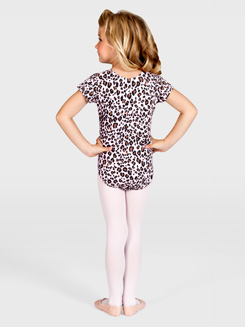 Child Leopard Cap Sleeve Leotard