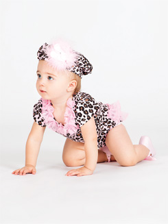 Toddler Animal Print Ruffle Butt Infant Bodysuit