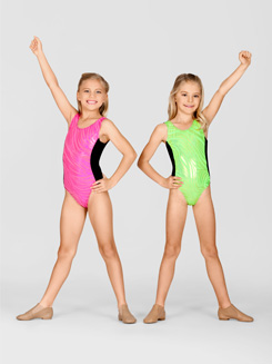 Child Metallic Tank Leotard