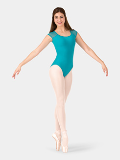 Adult Woven Back Cap Sleeve Leotard