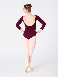 Adult 3/4 Sleeve V-Front Dance Leotard